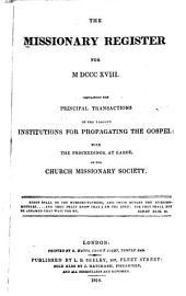 Missionary Register: Volume 6