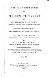 Biblical Commentary on the New Testament: Volume 4