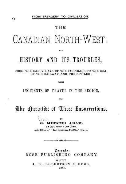 Download The Canadian North west Book