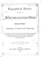Biographical History of Northeastern Ohio PDF