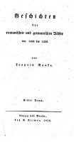 Geschichten der romanischen und germanischen V  lker von 1494 bis 1535 PDF