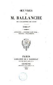 Oeuvres de M. Ballanche: Volume1