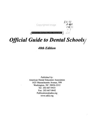 ADEA Official Guide to Dental Schools