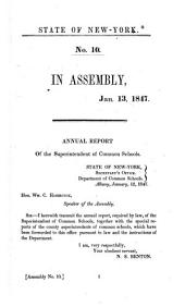 Annual Report of the Superintendent of Common Schools