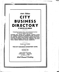 City Business Directory of Greater Los Angeles PDF