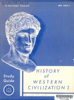 History of Western Civilization I PDF
