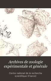 Archives de zoologie expérimentale et générale: Volume15