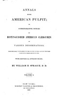 Annals of the American Pulpit  Trinitarian Congregational  1857 PDF