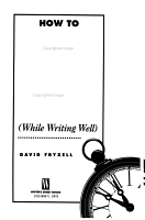 How to Write Fast  while Writing Well  PDF