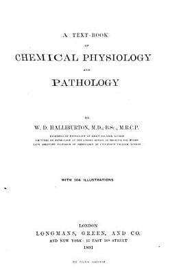 A Text book of Chemical Physiology and Pathology PDF