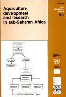 Aquaculture Development and Research in Sub Saharan Africa PDF