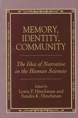 Memory  Identity  Community PDF