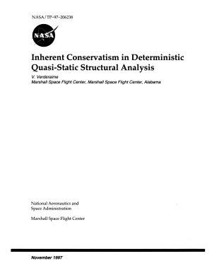Inherent Conservatism in Deterministic Quasi-Static Structural Analysis