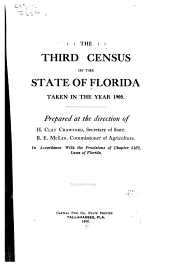 Census of the State of Florida ... Taken in Accordance with the Provisions of ... Laws in Florida, Acts of the Legislature ...