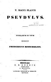 T. Macci Plavti comoediae: Volumes 6-9