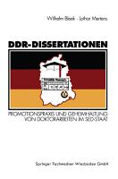 DDR Dissertationen PDF