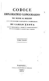 Codice diplomatico longobardo dal DLXVIII al DCCLXXIV: con note storiche, Volume 3
