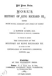 History of King Richard III ...