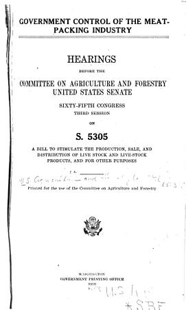 Government Control of the Meat packing Industry PDF