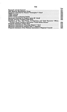 Homeland Security and the Fiscal Year 2002 Supplemental Appropriations Bill PDF