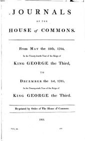 Journals of the House of Commons: Volume 40