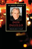 The Cambridge Companion to Don DeLillo PDF