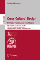 Cross-Cultural Design. Methods, Practice, and Case Studies
