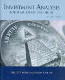 Investment Analysis for Real Estate Decisions  7th Edition PDF