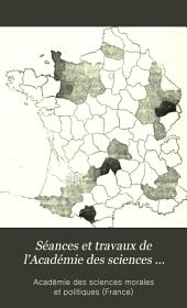 Séances et travaux de l'Académie des sciences morales et politiques, compte rendu: Volume20;Volume120
