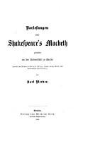 Vorlesungen   ber Shakespeare s Macbeth PDF