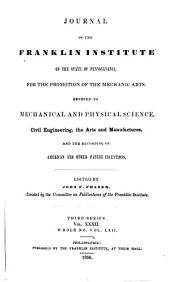 Journal of the Franklin Institute: Volume 32; Volume 62