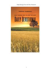 DAILY DEVOTIONAL: Daily Musing From the New Testament