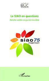Le SIAO en questions: Rendre visible ce qui est invisible