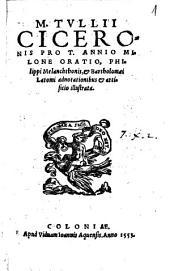 M. Tullii Ciceronis pro T. Annio Milone oratio