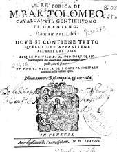 La retorica di M. Bartolomeo Cavalcanti ...: divisa in VII Libri ...