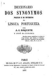 Diccionario dos synonymos poetico e de epithetos da lingua portugueza
