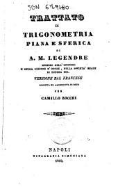 Trattato di trigonometria piana e sferica di A. M. Legendre