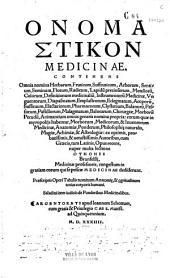 Onomasticon medicina continens omnia nomina herbarum...