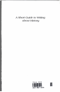 A Short Guide to Writing about History Book