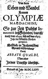Von dem Leben und Wandel Frauen Olympiae Maldachini