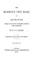 The Mormon s Own Book PDF
