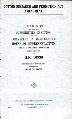 Cotton research and promotion act amendment