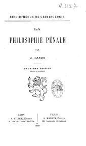 La philosophie pénale