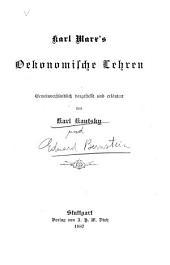 Karl Marx' oekonomische lehren: gemeinverständlich dargestellt und erläutert