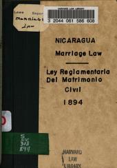 Ley reglamentaria del matrimonio civil