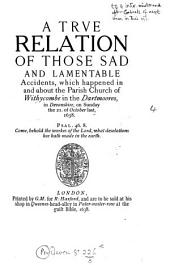 The two Widecombe tracts 1638: giving a contemporary account of the great storm