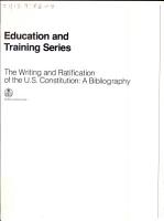 The Writing and Ratification of the U S  Constitution PDF