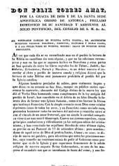 Don Felix Torres Amat ... Obispo de Astorga ... al venerable cabildo de nuestra santa iglesia ... y demas clero, y á los fieles de nuestra diócesi: salud en nuestro señor Jesucristo