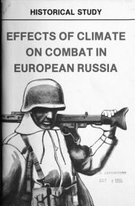 Effects of Climate on Combat in European Russia Book