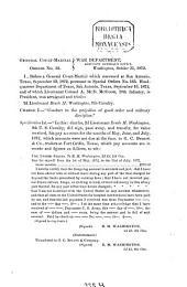 General Court-martial Orders No. ...: 1872, 31. Okt. - 19. Dez